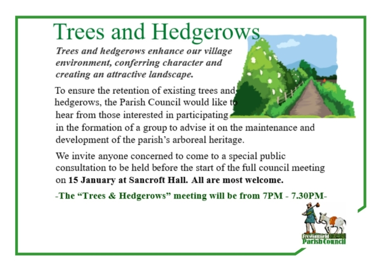 trees & hedgerows a4 poster